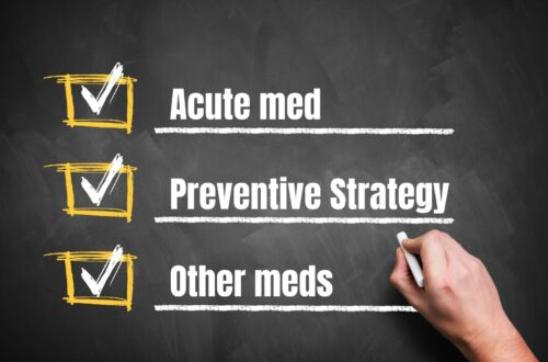 Checklist for migraine and medications